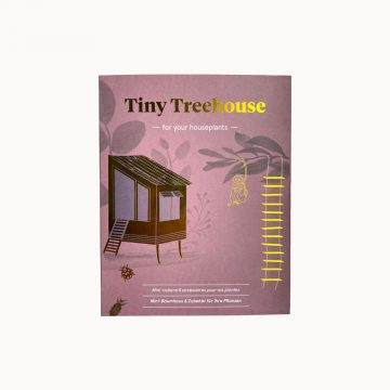 boomhut voor je plant tiny treehouse messing pynappel