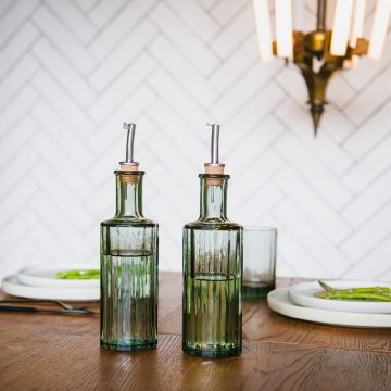olie azijn fles 30cl groen gerecycled glas smokey green